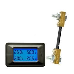 Đồng hồ đo DC hiển thị điện áp, dòng điện, công suất, công suất tiêu thụ
