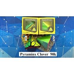 Biến thể Rubik. Pyraminx Clover Đen Số 1