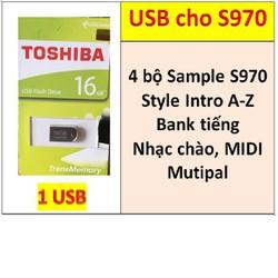 USB mini 4 BỘ Sample cho đàn organ yamaha PSR-S970, Style, bộ Songbook, Bộ nhạc chào, Bank tiếng và dữ liệu làm show khác hỗ trợ