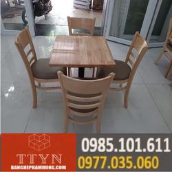bộ bàn ghế gỗ cafe giá thanh lý