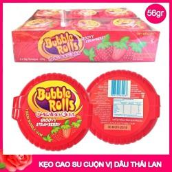 Kẹo Cao Su Cuộn Bubble Rolls Thái Lan Vị Dâu 1 cuộn