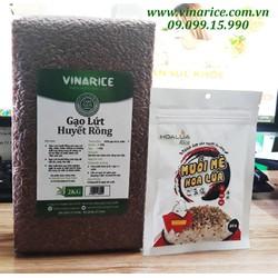 Combo gạo lứt Huyết Rồng 70% cám 2kg + muối mè - rất tốt cho sức khỏe