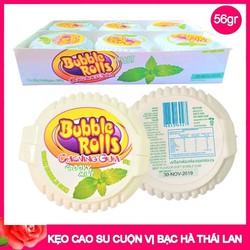 Kẹo Cao Su Cuộn Bubble Rolls Thái Lan Trà Xanh 1 cuộn