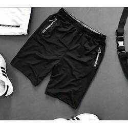 Quần short thể thao 2 túi kéo khoá vải thun lạnh dày đẹp