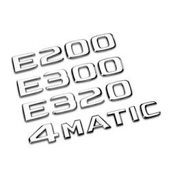Decal tem chữ E300, E200 dán đuôi xe ô tô