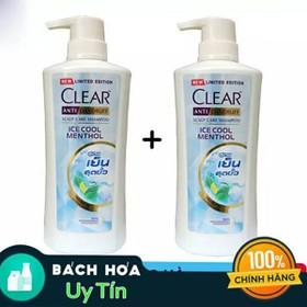 [ Mua 2 tặng 1 ] Combo 2 dầu gội Clear bạc hà 480ml tặng ngay 1 nước xả comfort 580ml - clear2t1bt