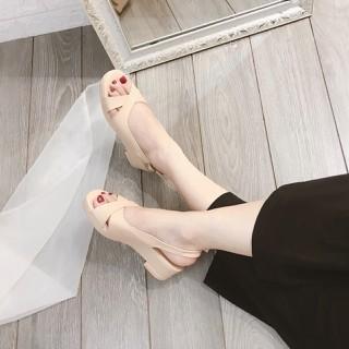 [ÁP MÃ CB_SD456 GIẢM 15K] Sandal đế xuồng quai chéo cao cấp - DX166 thumbnail