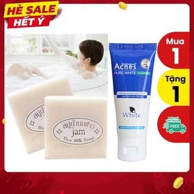 [TẶNG 1 ACNES] Combo 10 cục xà bông kích trắng sữa gạo Collagen + Gluta Thái Lan - 10SOAP+ACNES PURE