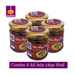 COMBO 4 hũ gia vị nấu bún chay Huê YesHue 150g/hũ