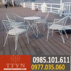 bàn ghế cafe sắt cao câp giá rẻ