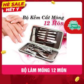 Bộ Kềm Cắt Móng 12 Món Cao Cấp - KCM12M