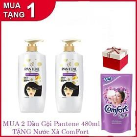 [ Mua 2 tặng 1] Combo 2 dầu gội Patene 480ml tặng ngay 1 xả comfort 580ml hàng Thái - patene2t1fs