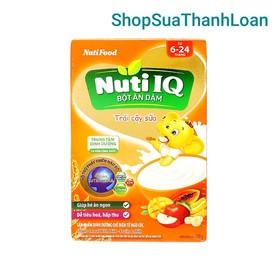 Bột ăn dặm NutiFood Nuti IQ trái cây sữa hộp 200g (6 - 24 tháng) - BADNTTCGS