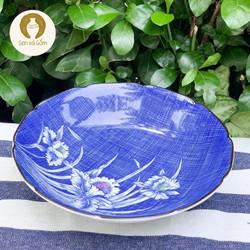 16x.5cm Dĩa gốm đĩa gốm sâu lòng gốm Nhật màu xanh SVG3434