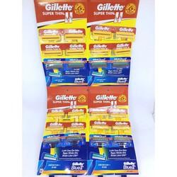 Dao cạo râu Gillette Vỉ 24 cây VÀNG và XANH