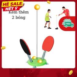 Bộ đồ chơi bóng bàn phản xạ cho bé loại đế nặng vợt gỗ