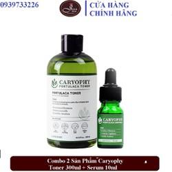 Bộ 2 Sản Phẩm Dưỡng Da Trị Mụn Caryophy Portulaca (Toner + Serum)