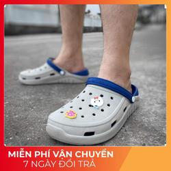 [Freeship]  Dép sục cao cấp Urban Footpritn EVA fylon D2002  Ghi xanh cá tính  - Giày Việt Nam Xuất Khẩu
