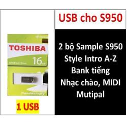 USB mini 2 BỘ Sample cho dòng đàn organ yamaha PSR - S950, Style Sample, nhạc chào, bộ songbook, Bank tiếng + Nhiều dữ liệu khác phục vụ làm SHOW