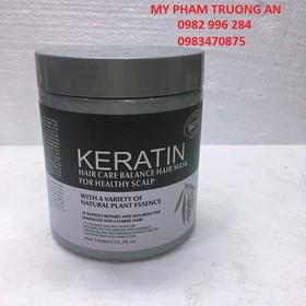 Ủ tóc keratin 1000ml - keratin bùn nâu và kẹp vịt - KK-56