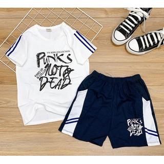 Bộ quần áo cộc tay quần đùi cho bé trai thun cotton hàng Việt Nam 5-14 tuổi - traimm thumbnail