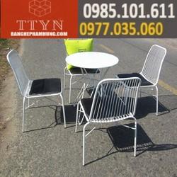 bộ bàn ghế cafe sắt giá rẻ