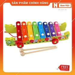 Xe kéo mặt đàn gõ âm thanh hình con sâu đồ chơi gỗ cho bé