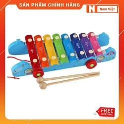 Xe kéo mặt đàn gõ âm thanh hình con rắn đồ chơi gỗ cho bé