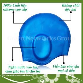 Nón bơi, mũ bơi Silicon che tai Greennetworks - 010110020423