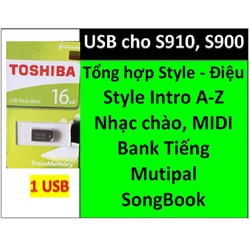 USB mini cho đàn organ yamaha PSR-S900 và S910 Style, bộ nhạc chào, bộ songbook, bộ Bank tiếng + Dữ liệu khác liên quan hỗ trợ cho làm SHOW