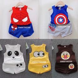 Quần áo trẻ em-set 5 bộ -Tặng kèm yếm [HỖ TRỢ SHIP] – quần áo cho bé thun cotton ba lỗ