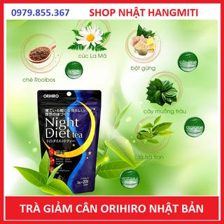 Trà giảm cân Nhật .Orihiro Night Diet Tea Nhật Bản túi 20 gói - MADE IN JAPAN-SP121 thumbnail