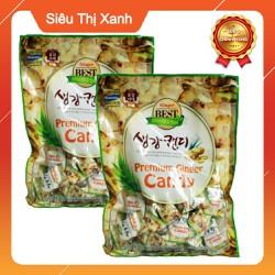 Combo 2 Gói Kẹo Gừng Hàn Quốc Cao Cấp Cheonnyeonae Premium Ginger Candy 200g
