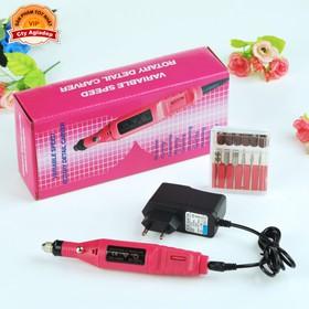 Máy mài đánh bóng móng tay AGD + Nhiều phụ kiện - Dụng cụ mài dũa móng tay chân tiệm Nails - S100 - Seagd806