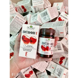 Vitamin E đỏ Mirrolla hộp 30 viên Chính Hãng - Vitamin E đỏ dạng lọ Nga - 325 thumbnail