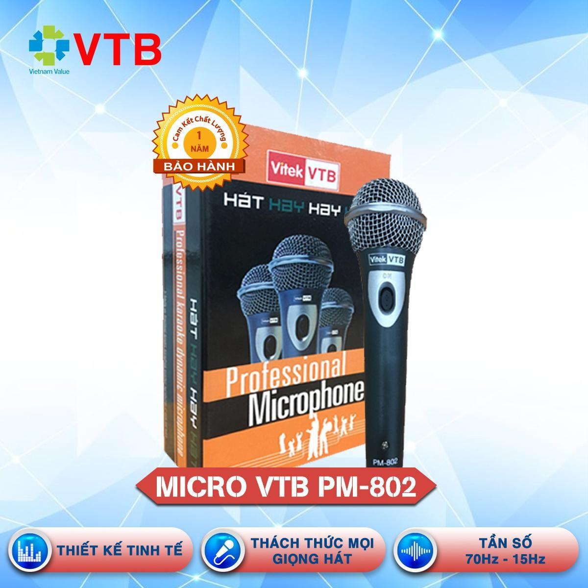 [Sale sậ sàn]Micro có dây VTB PM 802