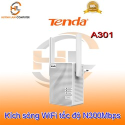 Bộ kích sóng WiFi Tenda A301 2 angten tốc độ N 300Mbps - Microsun phân phối