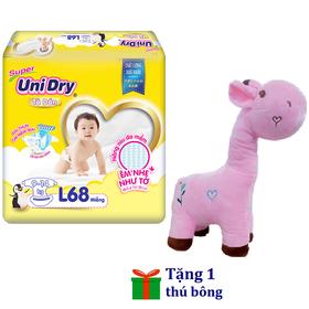 [Tặng 1 thú bông con hươu] Tã dán Unidry size M76 - size L68 - size XL62 - BD-01