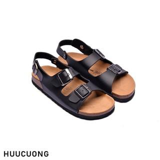 Sandal 2 khóa đen - 2125 thumbnail