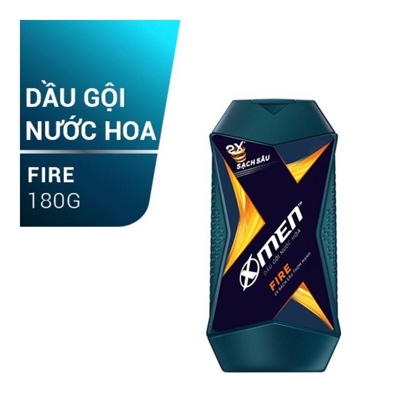 [Free Ship] Dầu Gội X-Men Nước hoa Fire 180G [TẶNG KÈM] 5 Gói Dầu Gội Fire/ Wood 5ml – dg-fire-tk-goi-dg-fire-wood