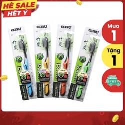 Combo 10 chiếc Bàn Chải Đánh Răng Làm Từ Than Hoạt Tính BOSSI Hàn Quốc
