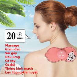 [Miễn phí ship ] Miếng dán massage mini, Massage cổ vai gáy, cột sống, liệu pháp thư giãn chăm sóc sức khỏe di động