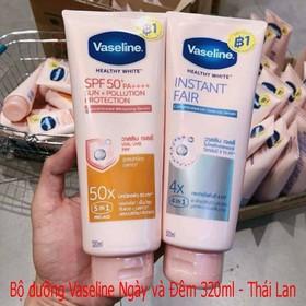 Bộ dưỡng thể Vaseline ngày và đêm 320ml - Thái Lan - Bộ dưỡng thể Vaseline