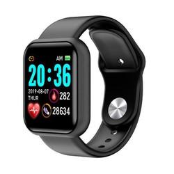 Đồng hồ thông minh Y68- theo dõi sức khỏe đo nhịp tim, bước chạy, nhắn tin, chống nước ip67 - 2 màu cho cả nam và nữ