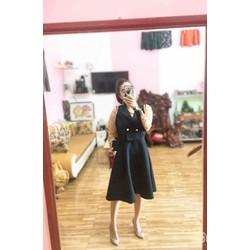đầm xoè kèm áo khoác cách điệu - rất sang - chất đẹp bao giá toàn quốc