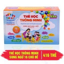 BỘ THẺ HỌC SONG NGỮ THÔNG MINH CHO BÉ