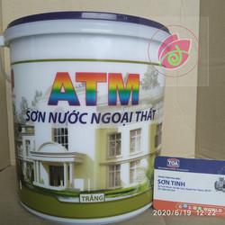 Sơn nước nội hoặc ngoại thất màu trắng ATM (3,5L) [ Sơn chậu ]