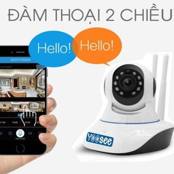 Freeship ] Bộ camera giám sát IP Yoosee 3 râu 11 đèn hồng ngoại, đàm thoại 2 chiều - Bộ camera 720P