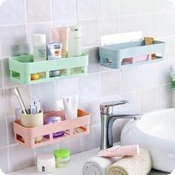 Nhà cửa : Bộ 2 kệ nhựa dán tường nhà tắm, phòng bếp tiện ích freeship