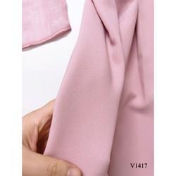 Váy Hồng Tay Voan Bồng V1417 Min Shop Dvc Kèm Ảnh Thật Trải Sàn Do Shop Tự Chụp